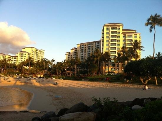 Marriott Ko Olina Beach Club: viewho the villa from the sea side
