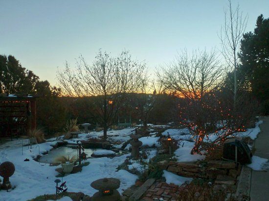 Ravens Ridge: Sunset from garden area