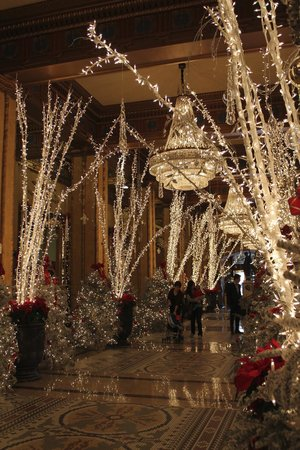 The Roosevelt New Orleans, A Waldorf Astoria Hotel: Hotel lobby during the holidays