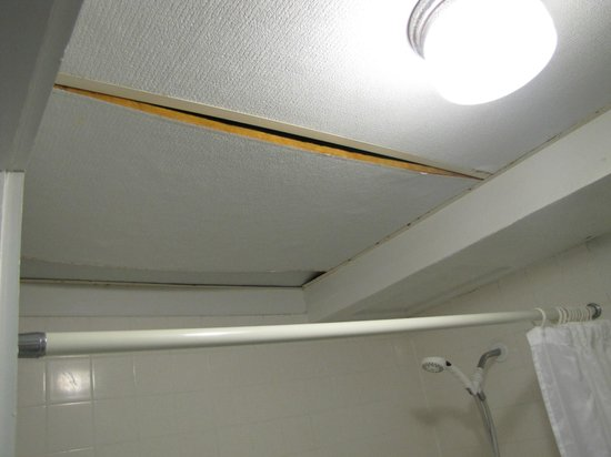 Uncle Billy's Hilo Bay Hotel: bathroom celing
