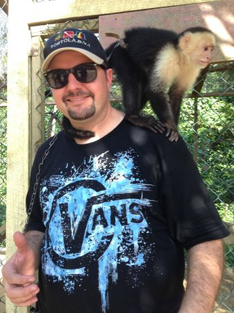 Jungle Top Zipline Adventure: Diego on my shoulder