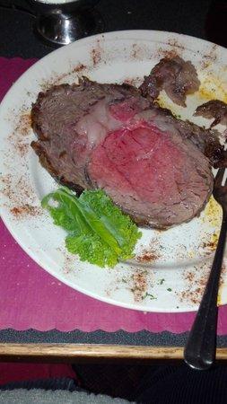 Robert Christians Restaurant : Prime Rib - a little overdone (c) 2012 Ron Cappuccio