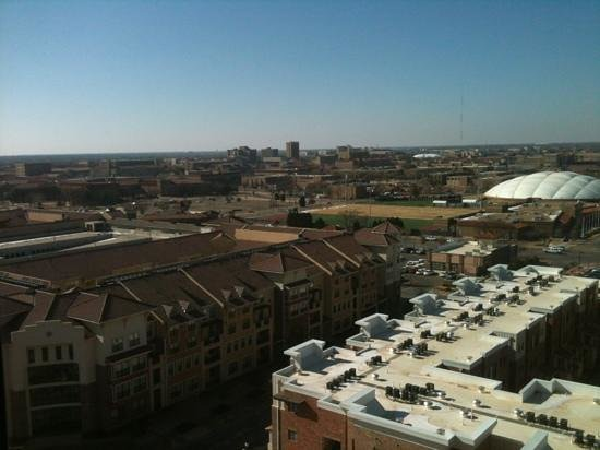Overton Hotel and Conference Center: view overlooking beautiful Texas Tech campus from Preferred-Level room.