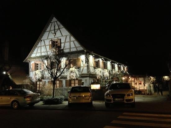 Restaurant Au Cerf : weihnachtsansicht