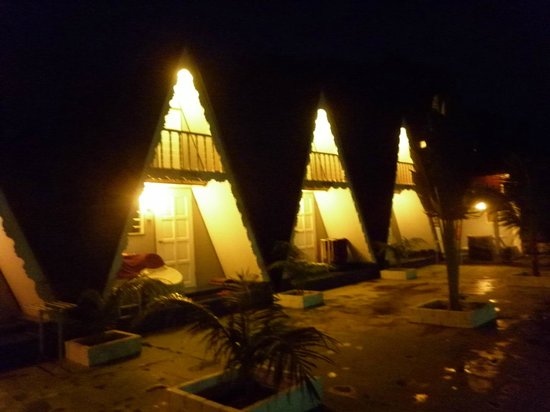 Nipah Guesthouse: A frame cottages at night