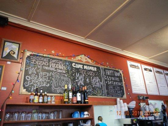 Cafe Mambo: menu board