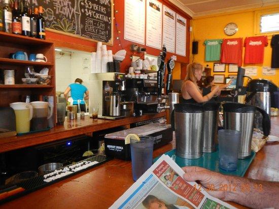 Cafe Mambo: interior bar area
