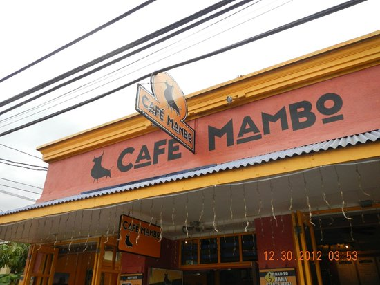 Cafe Mambo: exterior sign