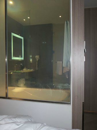 Hotel Novotel Taipei Taoyuan International Airport: Bathroom glass see-thru