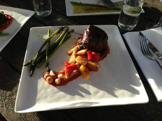 The Gables Restaurant: The Eye Fillet of Beef plus Side of Asparagus ($39+$8)
