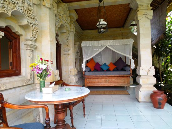 Alam Indah: The outside terrace of my deluxe suite.