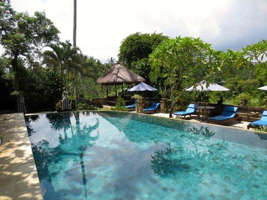 Alam Indah: The pool area.