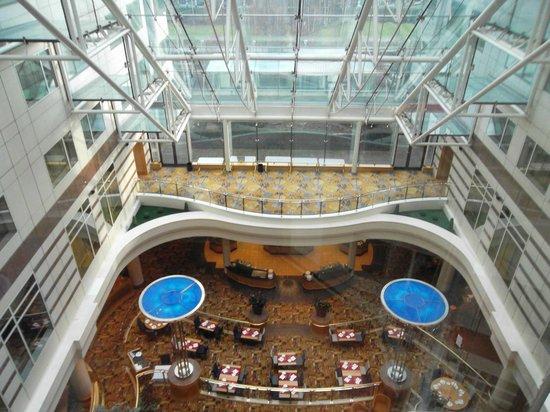 Hilton Paris Charles de Gaulle Airport: vue de l'ascenseur panoramique