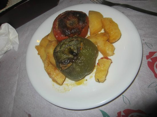 Oasis : stuffed tomato and pepper