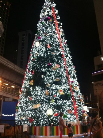 The Key Bangkok Hotel by Compass Hospitality: tree outside shopping mall