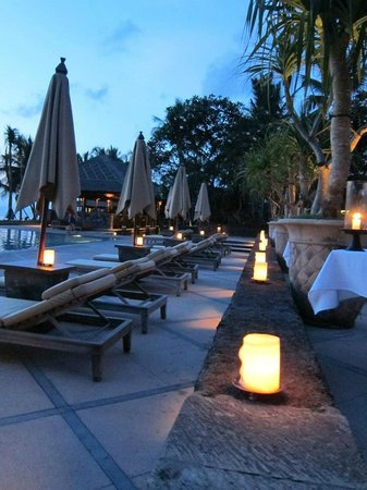 The Legian Bali: Poolside at sunset. Amazing!!