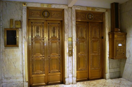 The Congress Plaza Hotel and Convention Center: Elevator doors