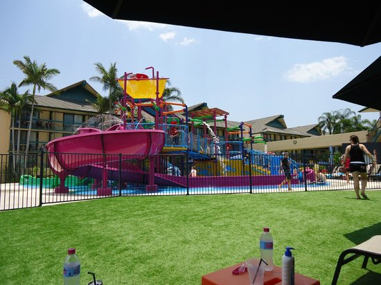 Paradise Resort Gold Coast: the view of the waterpark from the adults only area