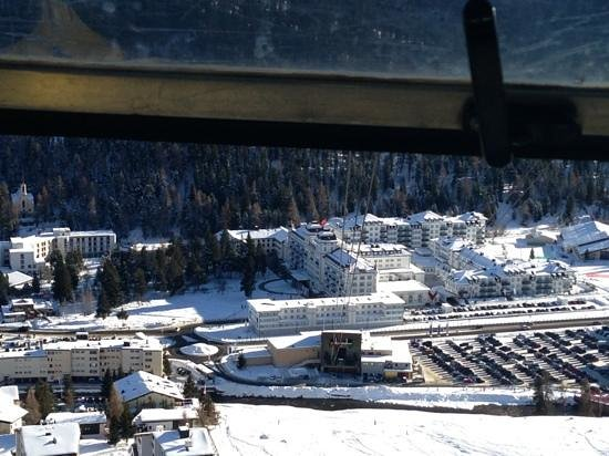 Kempinski Grand Hotel des Bains St. Moritz: view from above