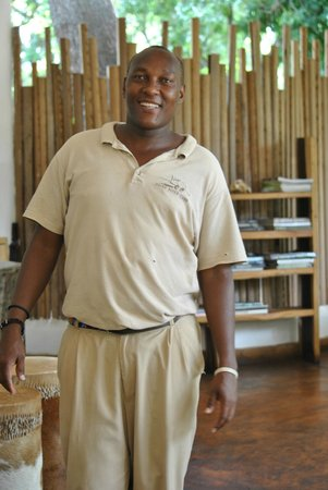 Rhino River Camp : A friendly Meru staff smile
