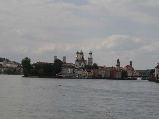Hotel König: Zusammenfluss von Inn und Donau