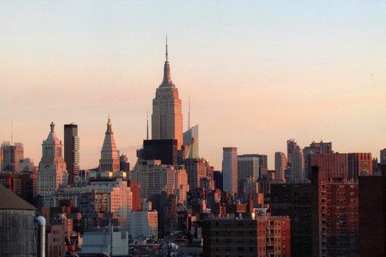 Hotel on Rivington: Dawn breaking over Manhattan
