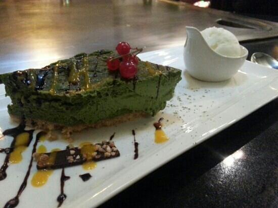 Chez Hanafousa : cheesecake au thé vert