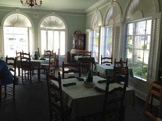 Colonial Dining Room Plantation Shuttered Windows Front Entrance