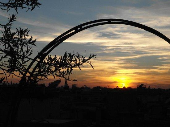 Riad Cherihane : Coucher de soleil déc 2012