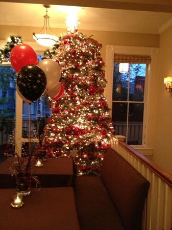 The Gables Inn Sausalito : the Christmas tree this season.