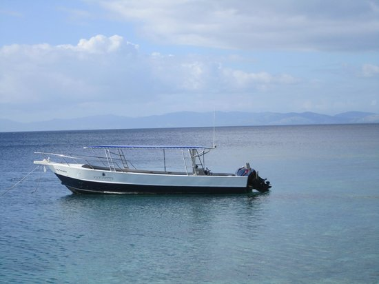 Paradise Taveuni: Boat for diving and snorkeling (fishing too)