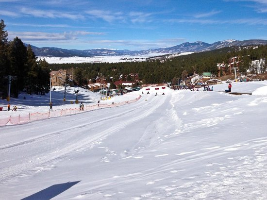 Angel Fire Resort: The tubing run from the top...