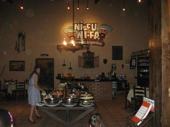 Restaurante Ni Fu Ni Fa: das Buffet