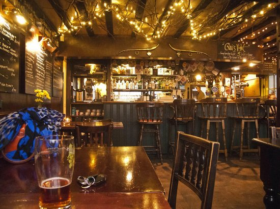 The Eight Bells: the Bar