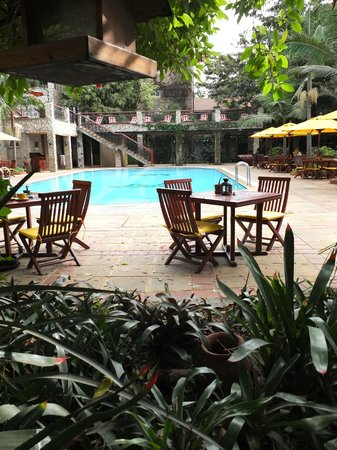 Fairview Hotel: Malgré la fraîcheur, la piscine est accueillante