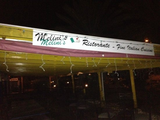 Melini's: The Restaurant - when it closed later in the evening