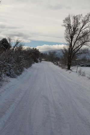 Casa Benavides Historic Inn: A wintery road near Taos