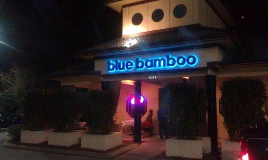 Blue Bamboo - Entrance at Night