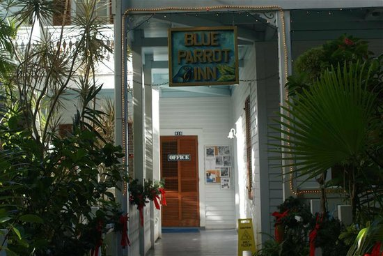 Blue Parrot Inn: Entrance with Holiday decoration)