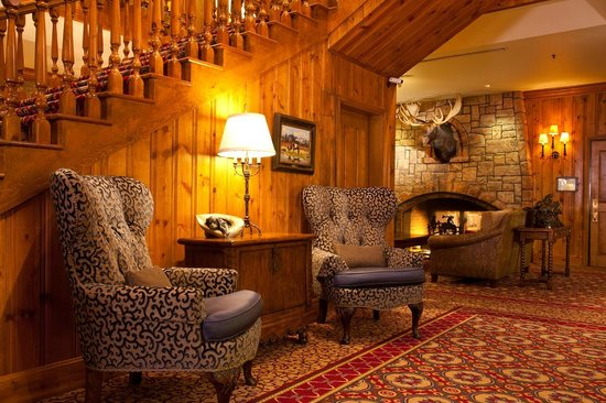 The Wort Hotel: The Lower Lobby and Fireplace