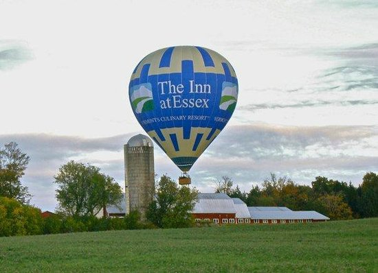 Above Reality Inc. Hot Air Balloon Rides: The obligatory balloon and barn photograph
