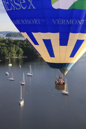 Above Reality Inc. Hot Air Balloon Rides: Another beautiful shot over Lake Champlain