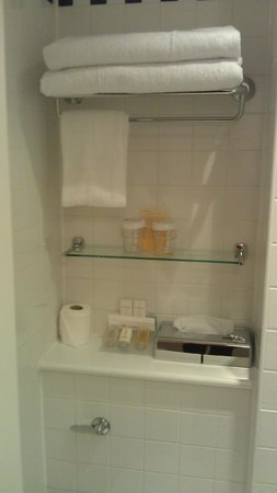Hilton Garden Inn Bristol City Centre: Lots of bathroom goodies, very clean bathroom
