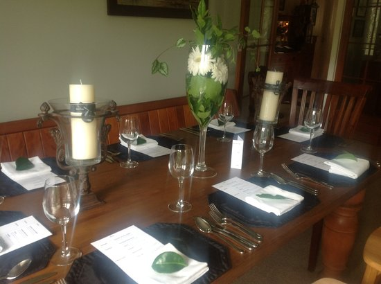 Kippilaw House: Table setting for dinner or weddings
