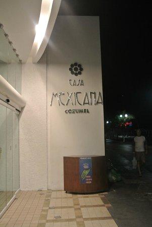 Casa Mexicana Cozumel: front entrance