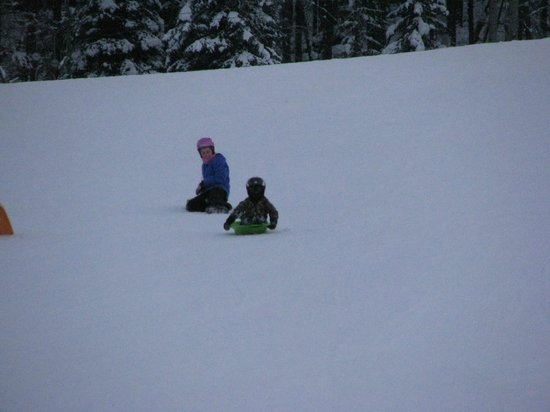 Embarc Panorama: sledding on a mountain