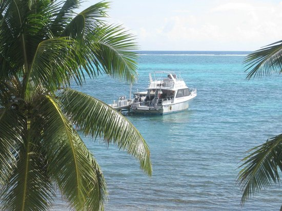 SunBreeze Hotel: View of dive boat from observation deck