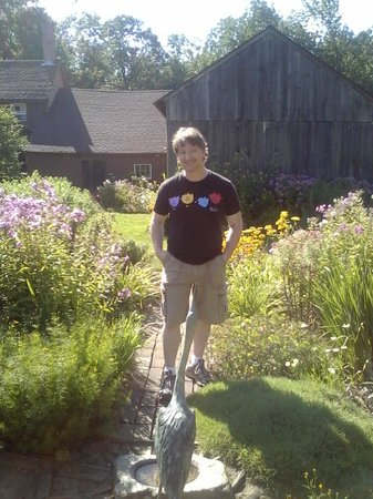 Baird Tavern: Brett hanging out in the gardens!