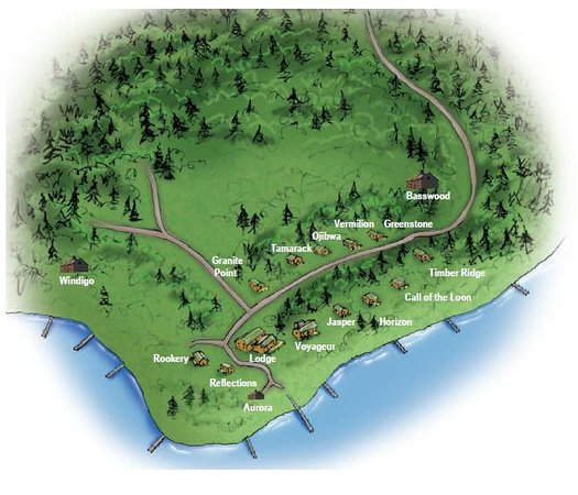 Big Lake Wilderness Lodge: Resort Layout