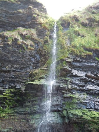 Trellyn Woodland Camping: Waterfall at Druidstone Beach